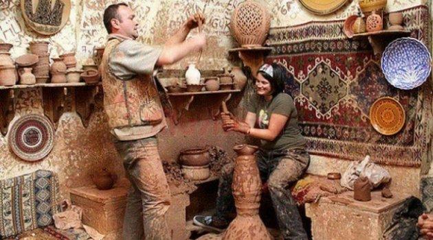 Kapadokya'da Çömlekçilik ve Oniks Taş İşlemeciliği